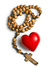 rosary with heart of stone