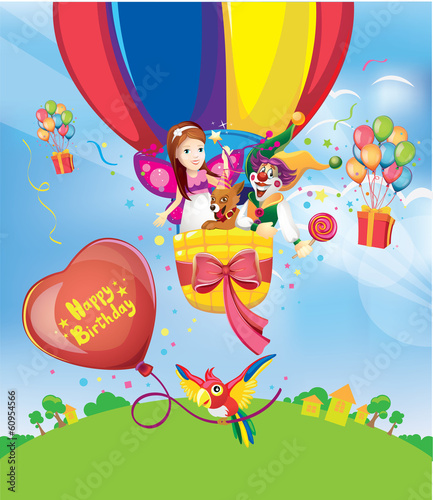 birthday party balloons