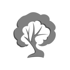 Vector illustration of Eco Tree, Isolated On White Background