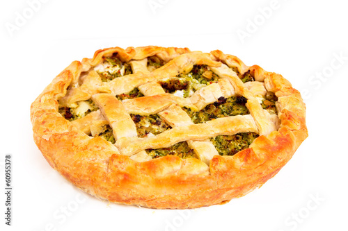 Pie with broccoli and ricotta