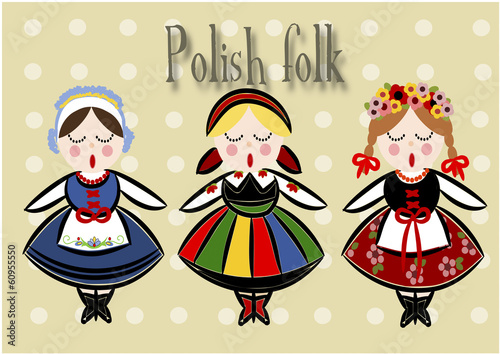 Traditional Polish Costume - Vector. - 60955550