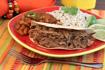Pulled Pork Taco Dinner