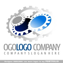 logo, part, gear, machine, vector