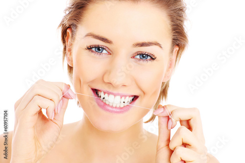 Teeth flossing
