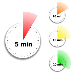 clock face stopwatch pattern