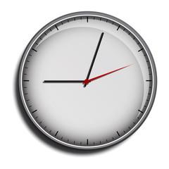 wall clock face grey