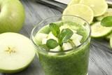 frullato di frutta verde