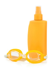 Sunscreen and Goggles