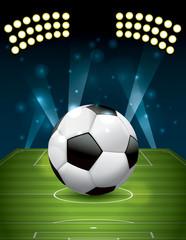 Vector Football - Soccer Ball on Textured Field