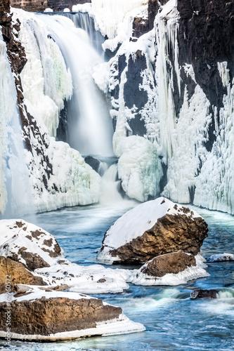 Frozen Great Falls in Paterson, NJ