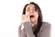 Leinwanddruck Bild - unhappy woman crying