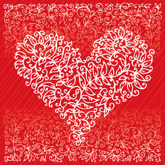 St.Valentine Love Red Hearts Card IV background (EPS-8)