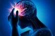Leinwanddruck Bild - Migräneanfall