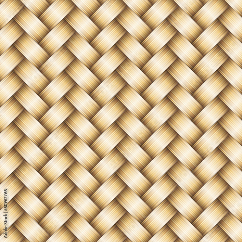 Vector wickerwork golden metallic background