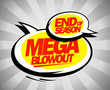 End of season mega blowout balloons pop-art style
