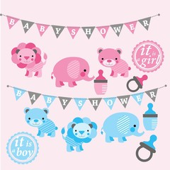 Baby Shower Clip Art, baby shower vectors, baby graphics
