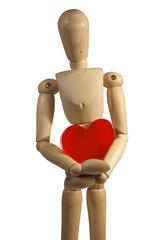 San Valentín, corazón rojo