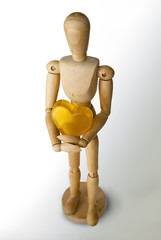 San Valentín, corazón amarillo