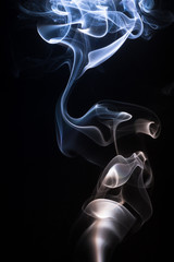 abstract smoke rising