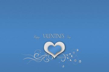 Sevgililer Günü Mavi Arka Plan
