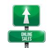 online sales road sign illustration design