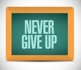 never give up message illustration design