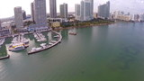 Aerial footage of Miami