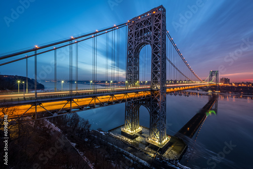 George Washington Bridge at sunrise