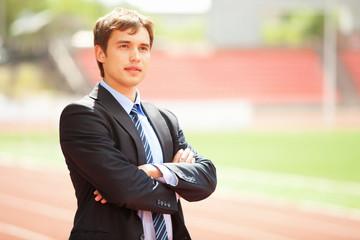 Portrait of a businessman, Outdoor