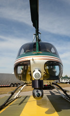 Police helicopter front view