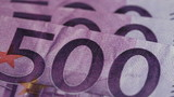 Five Hundred Euro notes - Extreme Macro shot