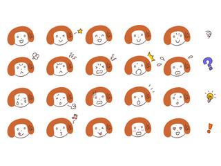 女性の表情20種類