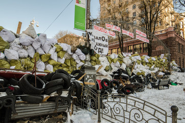 Maidan protests on 31 January 2014 in Kiev, Ukraine