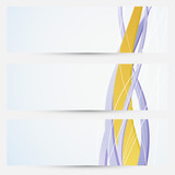 Bright business cards collection - golden line theme