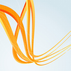 Background template with orange speed waves
