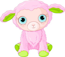 Cute lamb character