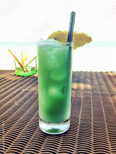 refreshing drink the beach bar
