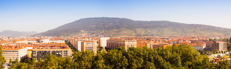 Panorama of residential districts of Pamplona
