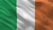Flag of Ireland waving in the wind - seamless loop