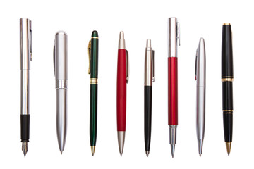 eight different pens