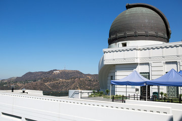 Los Angeles Observatory and Hollywood sign