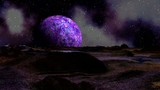 Sunrise purple planet