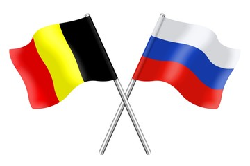 Flags: Belgium and Russia