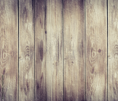 stained wooden wall background texture - 60973508
