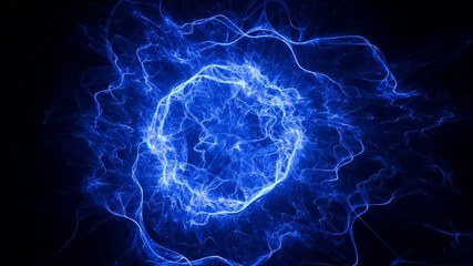 Rotating abstract blue plasma