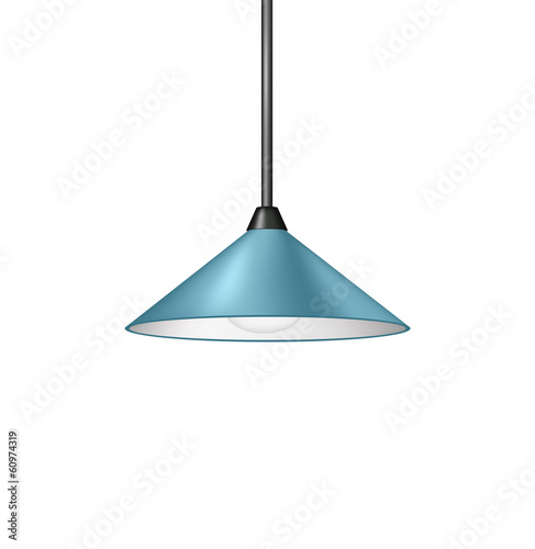 Retro light blue hanging lamp