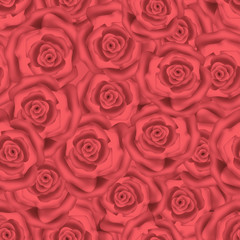 Seamless roses background pattern
