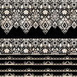 Seamless lace lacy washi tapes ribbon pattern on black