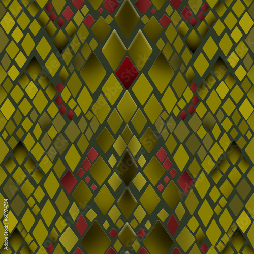 Seamless pattern of yellow and green snake skin