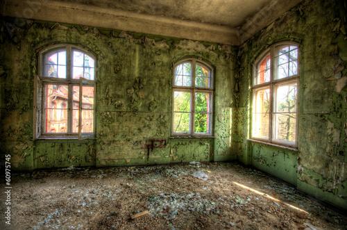 canvas print picture Fenster Ruine